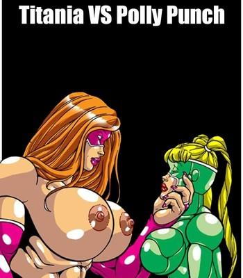 Porn Comics - Omega Fighters 7 – Titania VS Polly Punch Cartoon Porn Comic