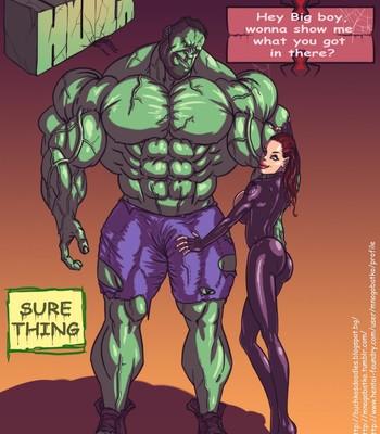 Porn Comics - Hulk VS Black Widow Cartoon Comic