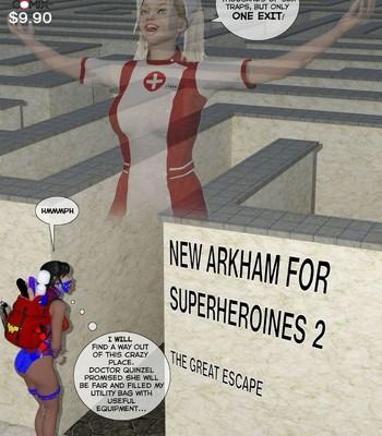 Porn Comics - New Arkham For Superheroines 2 – The Great Escape Sex Comic