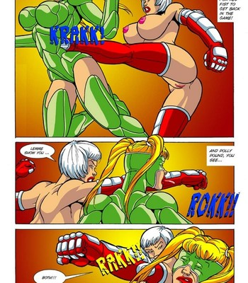 Omega Fighters 3 - Red Fist VS Polly Punch Porn Comic 005