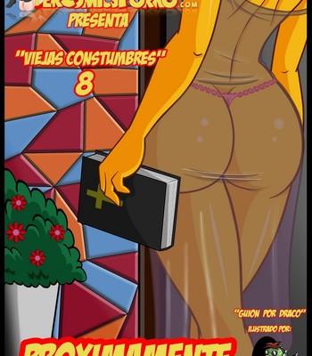 Porn Comics - The Simpsons 8 Old Habits Cartoon Porn Comic
