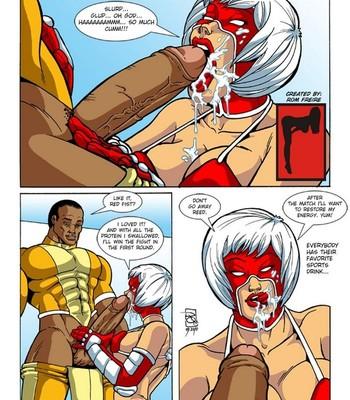 Omega Fighters 4 - Red Fist VS Black Widow Porn Comic 002