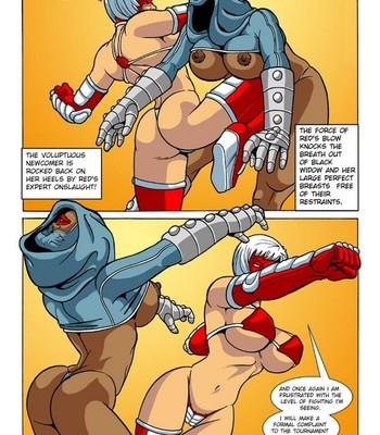 Omega Fighters 4 - Red Fist VS Black Widow Porn Comic 004